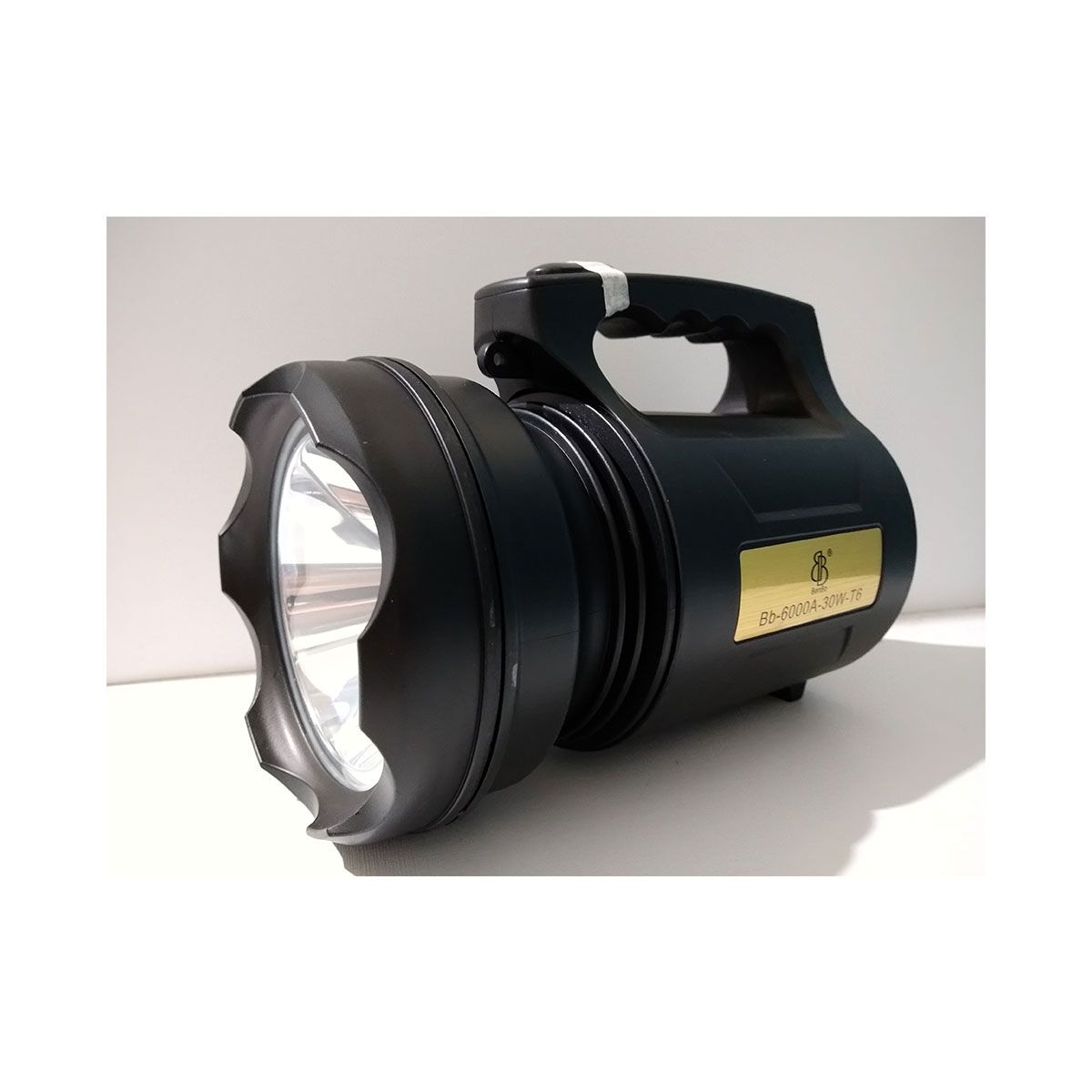Lanterna holofote led recarregável bb 6000a 30w t6