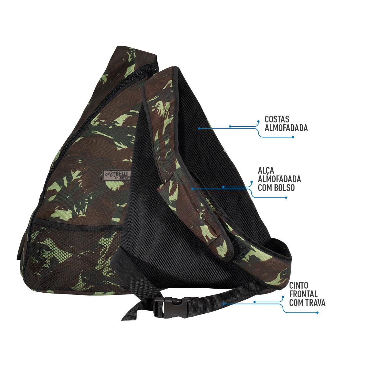 Mochila bolsa atletic camuflada impermeável nylon 600