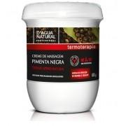 Creme De Massagem Pimenta Negra Termo Ativo 650g Dagua Natural