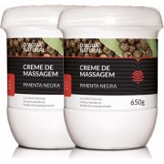 Kit 02 Cremes De Massagem Pimenta Negra Termo Ativo 650g Dagua Natural