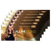 Kit 6 Caixas de Papel Alumínio para Mechas Alumiblonde - 320 Folhas - 9,5x30 320unid