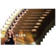Kit 8 Caixas de Papel Alumínio para Mechas Alumiblonde - 320 Folhas - 9,5x30 320unid