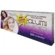 Kit com 10 caixas de Papel Alumínio para Mechas Alumi Hair - 320 Folhas - 12x30cm