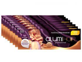 Kit com 8 caixas de Papel Alumínio para Mechas Alumi Hair - 400 Folhas - 9,5x30cm