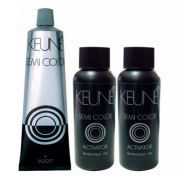 Kit Keune Semi Color 60ml - Cor 1 - Preto +2 Ativadores 60ml