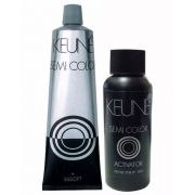 Kit Keune Semi Color 60ml - Cor 5.23 - Castanho Claro Cacau + Ativador 60ml