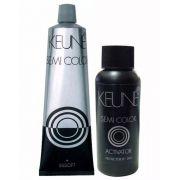 Kit Keune Semi Color 60ml - Cor 9.1 - Louro Muito Claro Cinza + Ativador 60ml