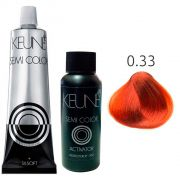 Kit Keune Semi Color 60ml - Mix 0/33 - Dourado + Ativador 60ml