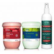 Kit Massagem Fluido Termo Ativo, Esfoliante Forte e Gel Redutor Dagua Natural
