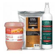 Kit Massagem Fluido TermoAtivo, Esfoliante Forte e Argila Preta Dagua Natural