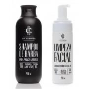 Kit Shampoo De Barba e Limpeza Facial Detox