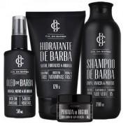 Kit Shampoo, Hidratante, Óleo e Pomada Modeladora Cia Da Barba