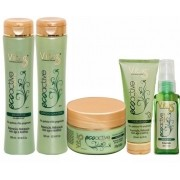 Kit Vitiss Ecoactive Argan Oil Shampoo 300ml + Condicionador 300ml + Máscara 250g + Leave-In 200ml + Sérum 30ml