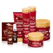 Kit Vitiss Ecoactive Monoï Tahiti Shampoo 300ml + Condicionador 300ml + Máscara 250ml + Leave-In 200ml + Sérum 30ml