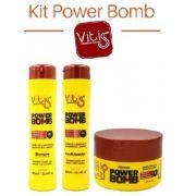 Kit Vitiss Power Bomb Shampoo 300ml + Condicionador 300ml + Máscara 250g