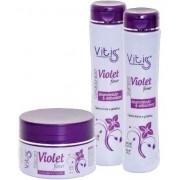 Kit Vitiss Violet Shampoo 300ml + Condicionador 300ml + Máscara 250g