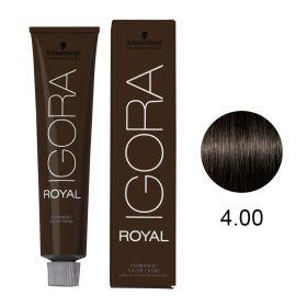 Tinta Igora Color10 60g - Cor 4.00 - Castanho Médio Natural Extra