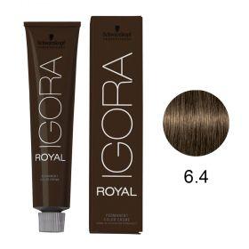 Tinta Igora Color10 60g - Cor 6.4 - Louro Escuro Bege