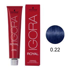 Tinta Igora Royal 60g - Cor 0.22 - Mistura Azul
