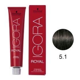 Tinta Igora Royal 60g - Cor 5.1 - Castanho Claro Cinza