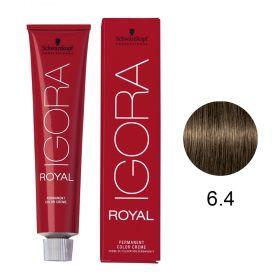 Tinta Igora Royal 60g - Cor 6.4 - Louro Escuro Bege