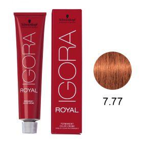 Tinta Igora Royal 60g - Cor 7.77 - Louro Médio Cobre Extra