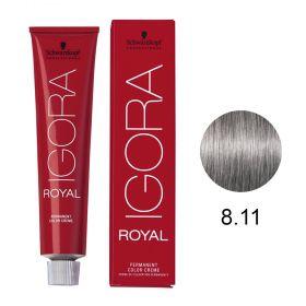 Tinta Igora Royal 60g - Cor 8.11 - Louro Claro Cinza Extra