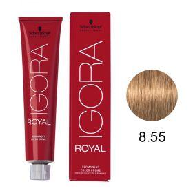 Tinta Igora Royal 60g - Cor 8.55 - Louro Claro Dourado