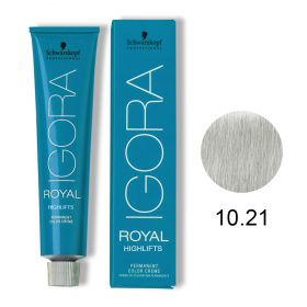 Tinta Igora Royal Highlifts 60g - Cor 10.21 - Louro Ultra Claro Fumê Cinza