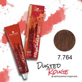 Tinta Igora Royal Take Over Dusted Rouge 60g - Cor 7-764 Louro Médio Cobre Marrom Bege