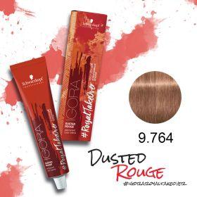 Tinta Igora Royal Take Over Dusted Rouge 60g - Cor 9.764 - Louro Médio Cobre Marrom Bege