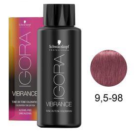 Tinta Igora Vibrance 60g - Cor 9.5-98 - Louro Violeta Vermelho