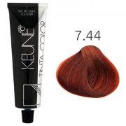 Tinta Keune Color 60ml - Cor 7.44 - Louro Médio Cobre Intenso