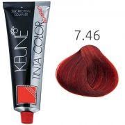 Tinta Keune Color Red Infinity 60ml - Cor 7.46 - Louro Médio Cobre