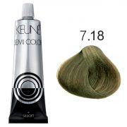 Tinta Keune Semi Color 60ml - Cor 7.18 - Louro Médio Metálico