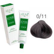 Tinta Keune So Pure 60ml - Cor 0/11 - Azul Cinza