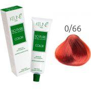 Tinta Keune So Pure 60ml - Cor 0/66 - Vermelho