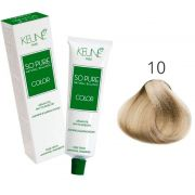 Tinta Keune So Pure 60ml - Cor 10 - Louro Claríssimo