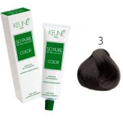 Tinta Keune So Pure 60ml - Cor 3 - Castanho Escuro