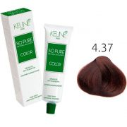 Tinta Keune So Pure 60ml - Cor 4.37 - Castanho Médio Expresso