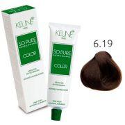 Tinta Keune So Pure 60ml - Cor 6.19 - Louro Escuro Cinza Mate