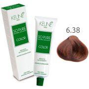 Tinta Keune So Pure 60ml - Cor 6.38 - Louro Escuro Avelã