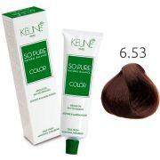 Tinta Keune So Pure 60ml - Cor 6.53 - Louro Escuro Mogno Dourado
