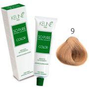 Tinta Keune So Pure 60ml - Cor 9 - Louro Muito Claro