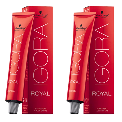 2 Tintas Igora Royal 60g - Cor 7.77 - Louro Médio Cobre Extra
