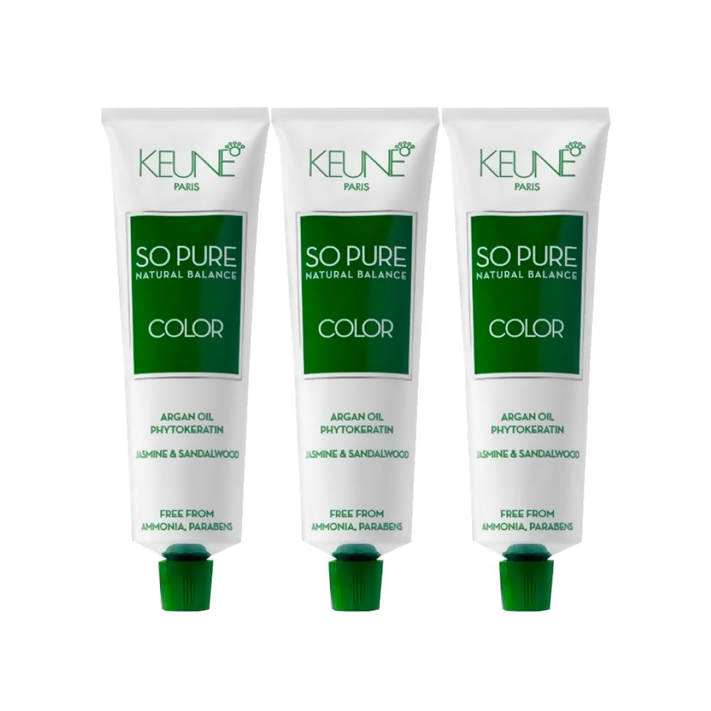 2 Tintas Keune So Pure 60ml - Cor 4.3 + Tinta Keune So Pure 60ml - Cor 4