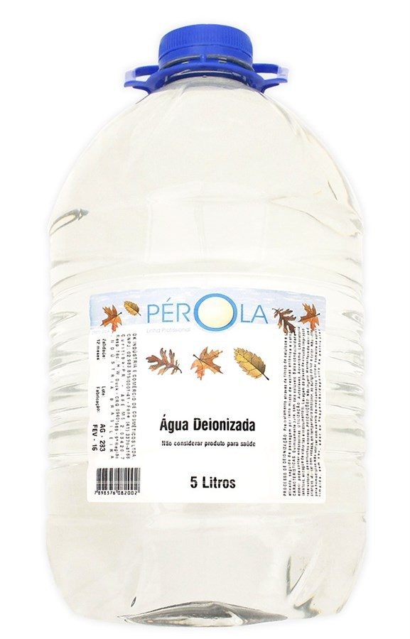 Água Deionizada Pérola 5 Litros