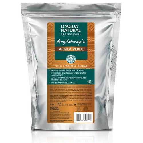 Argila Verde 500g Dagua Natural - Facial, Corporal e Capilar