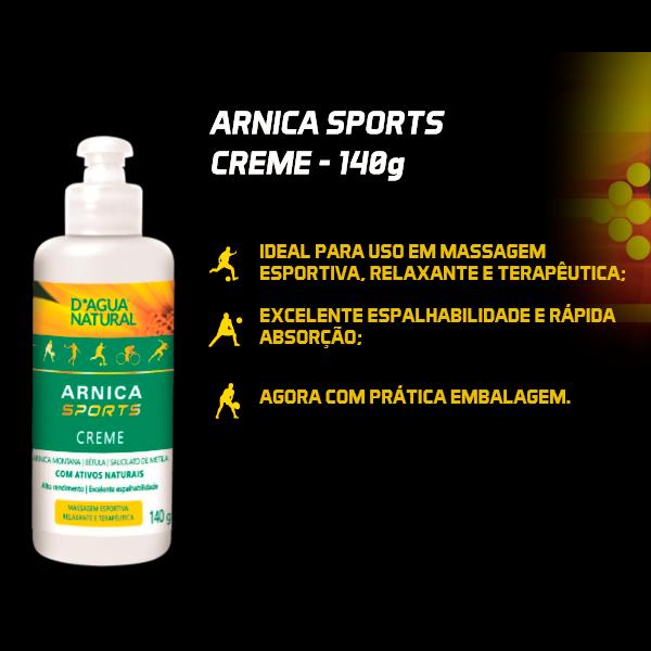Arnica Sports Creme 140g Dagua Natural Lançamento