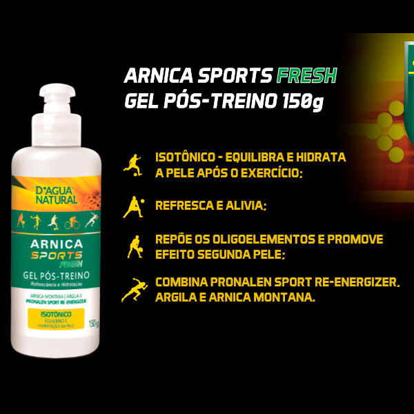 Arnica Sports Fresh Pós Treino 150g Dagua Natural Lançamento